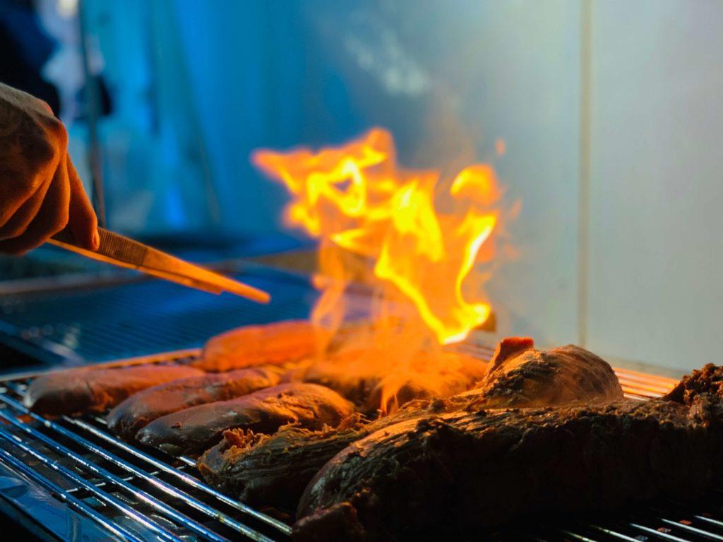brennendes Fleisch